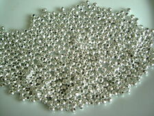 500 X 4mm Silver Plated Round Metal Spacer Beads
