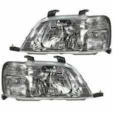For Honda CR-V 97-01 Left Driver & Right Passenger Pair Set Headlights Headlamps