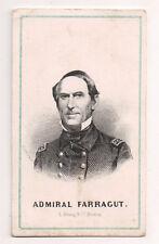 Vintage CDV David Glasgow Farragut Union Admiral American Civil War