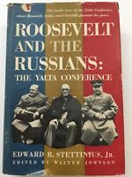 Roosevelt and the Russians Yalta Conference by E R Stettinius 1949 HBDJ 1st Ed