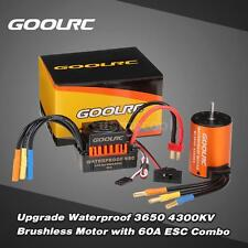 GoolRC 3650 4300KV Brushless Motor with 60A ESC Combo Set for 1/10 RC Truck R5O8