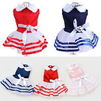 Pet Dog Small Cat Strip Skirt Princess Tutu Dress Clothes Costume Apparel
