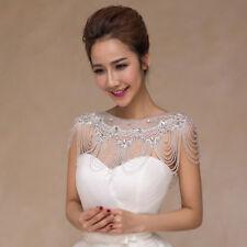 JL14 Bridal Shoulder Necklace Body Chain Jewelry Set Rhinestone wedding dress