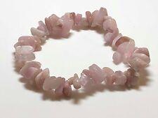 Pink Kunzite Crystal 7.5 Chipped Bracelet ~ Spiritual Stone ~ Love & Peace