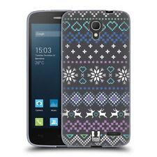 Étuis, housses et coques multicolore en silicone, caoutchouc, gel pour téléphone mobile et assistant personnel (PDA) Alcatel