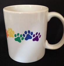 Rainbow PET PAWS 11oz Coffee MUG! Gay Lesbian LGBT Pride ~FREE & FAST SHIPPING!~