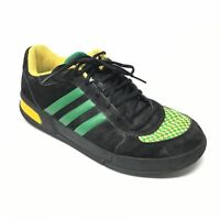 Men's Adidas Core Rollers Shoes Sneakers Size 11 Black Green Yellow Fashion AE6