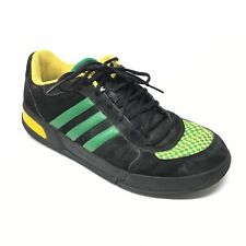 new styles 77657 0af09 Mens Adidas Core Rollers Shoes Sneakers Size 11 Black Green Yellow Fashion  AE6