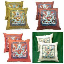 """Cushion Covers Silk Chinese Oriental Home Decor 17""""x17"""" x 2 Pair"""