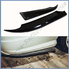 3K Carbon Fiber Rear Bumper Add On Side Splitter For BENZ W204 08-11 AMG Bumper