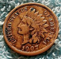 1907 Indian Head Cent / U.S. Coin Full LIBERTY