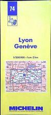 Ancienne carte Michelin collector-200 000é, Lyon - Genève