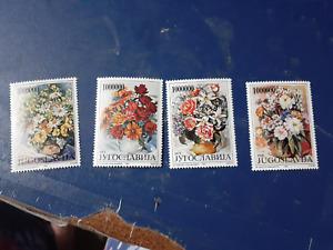 Yugoslavia 2 x sets flowers 1993 MNH stamps