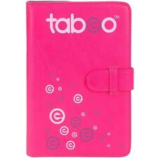 Tabeo Folio Case and Stand - Fits Most Standard Size Tablets - Pink