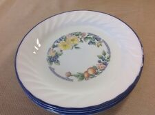 "4 Corning Corelle ORCHARD ROSE 7-1/4""  Salad Plates Bread And Butter"
