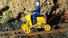 Schienenmoped, Gleiskraftrad, Draisine aus Metall, Gartenbahn, LGB, Magnus, Piko