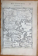 MALLET: Map of Greece Grece Generale - 1683