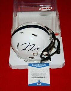 PAT FREIERMUTH PENN STATE Steelers signed speed mini helmet Beckett COA 1