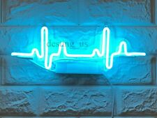 "New ECG Electrocardiogram Neon Light Sign 14"" Lamp Beer Bar Acrylic Real Glass"