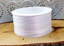(0,16€/m)   50m Satinband weiß 6mm Taufe Hochzeit  Tischband Tischdeko