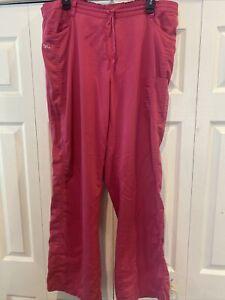 Women's NrG by Barco Pink Scrub Pants Size XL
