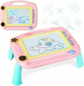Kids Magnetic Drawing Board Large Doodle Sketch Pad (Colors Vary) Damaged Box