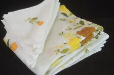Autumnal Flowers – Madeira Embroidered Applique Tablecloth & Napkins Tt752
