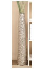 "Tall Ceramic Floor Vase 40"" Decorative Elegant Home Décor Cylinder Silver Gift"