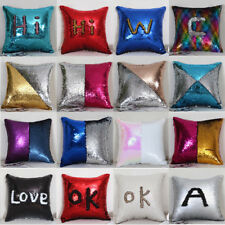 Fashion Creative Pattern Double Color Sequins Cushion Cover Home Car Pillow Case
