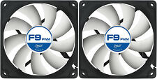 2 x Arctic Cooling F9 PWM Rev.2 92mm Case Fans 1800 RPM (AFACO-090P2-GBA0) Artic
