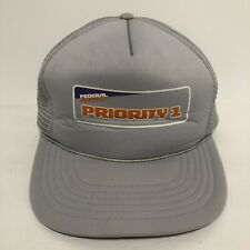 Vintage FedEx Uniform Hat Cap Priority 1 Delivery Halloween Costume Snapback