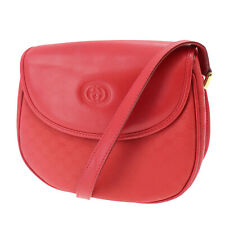 GUCCI Micro Small GG Shoulder Bag Red PVC Leather Vintage Authentic #KK572 O