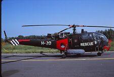 Original colour slide Alouette III H-20 (Rescue) Dutch Air Force / Navy