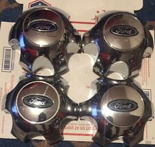 """09-14 Ford F-150 Set Of 4 Center Caps CHROME OEM Wheel Fits 18"""" & 20"""" Wheels Wow"""