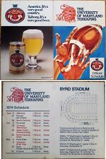 University Maryland Football 1974 Schedule w/Tuborg Beer Advertising - Terrapins