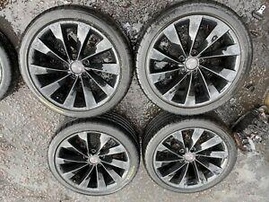 "VW INTERLAGOS 18"" SCIROCCO PASSAT ALLOY WHEELS & TYRES 5x112 AUDI SEAT SKODA VAG"