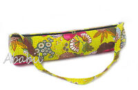 Yoga Bag Kantha Stitch Gym Exercise Mat Carrier Cotton Bags With Shoulder Strap