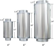 """VIVOSUN 4 """" 6"""" 8'' Noise Reducer Silencer for Inline Duct Fan and Carbon Filter"""