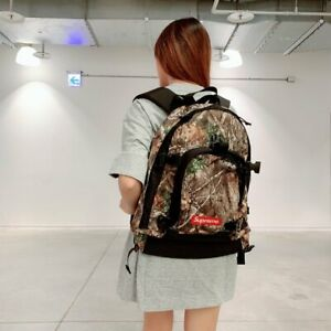 "Supreme Backpack FW19 ""Real Tree"" One Size Bag Canvas School Camo"