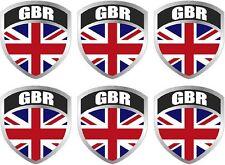 "6 - 2"" Great Britain British UK Union Jack Flag Shield Decal Badge Sticker"