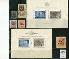 /Latvia Stamps lot of 5 and 2 souvenir sheets, pre ww2