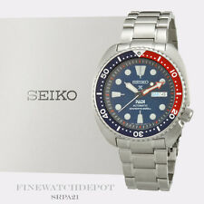 Authentic Seiko Padi Automatic Prospex Pepsi Turtle Diver's 200M Watch SRPA21