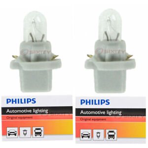 2 pc Philips PC74CP Instrument Panel Courtesy Light Bulbs for Electrical fj