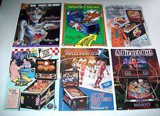 Pinball FLYER Set Diner Slugfest Rollergames Dirty Harry Bride Of Pinbot #25