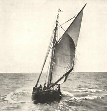 FRANCE. Barque de Pêche 1900 old antique vintage print picture