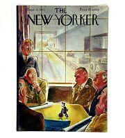 Vintage September 1945 New Yorker Magazine Cover Monkey Wind Up Toy Business Men