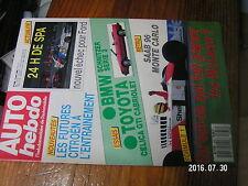 1µ?§ Revue Auto Hebdo n°636 24 H Spa Boutsen McLaren F1 gagne pourquoi ? SAAB 96
