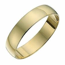 9ct Wedding Ring Size L 4mm Light D Shaped Yellow Gold Band Brand-New With Tags