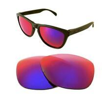 Nuevo Polarizado Luz Personalizada + Lente Roja Para Oakley Frogskins Sunglasses