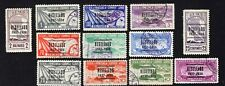 Venezuela 1937 11 stamps Mi#219-27+229-31 used CV=195€